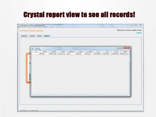 crustal report