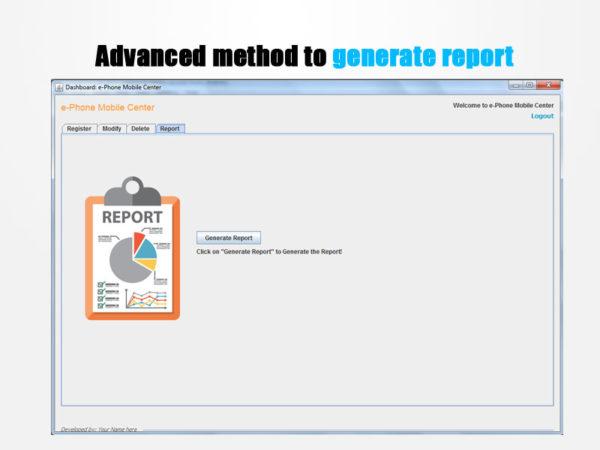 generate report