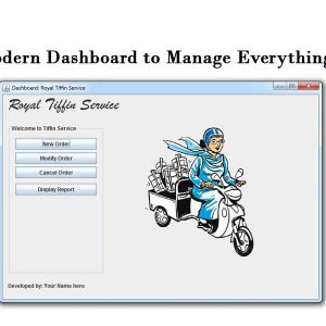 tiffin booking system dashboard